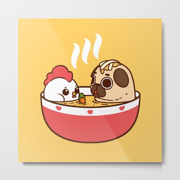 Chicken Noodle Puglie Soup Metal Print