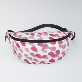 Imperfect brush strokes - magenta Fanny Pack