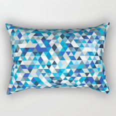 Icy triangles Rectangular Pillow