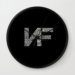 NF lyrics logo Wall Clock