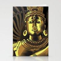 shiva Stationery Cards featuring Shiva by Aurapim Vorasopan