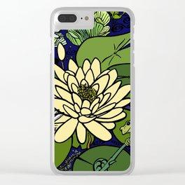 Garden Pond Clear iPhone Case