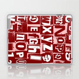 Ransom Letters Laptop & iPad Skin