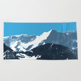 swiss mountains Beach Towel