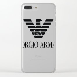 Giorgio Armani T-Shirt Clear iPhone Case