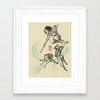airbender Framed Art Prints featuring Airbender Kids by OliLai