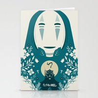 spirited away Stationery Cards featuring Spirited by Duke Dastardly
