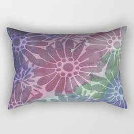 Abtract Summer Flowers I Rectangular Pillow