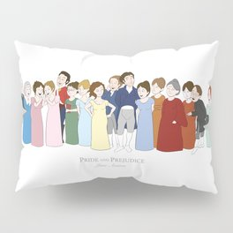 Cast of Jane Austen's Pride and Prejudice Pillow Sham