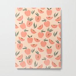 Peach Theme Metal Print