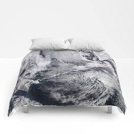 Sea Ice, Clouds in the Sea of Okhotsk Comforters