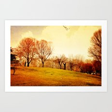 All That Space And No One To Play Art Print