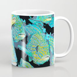 School Of Fish Acrylic Painting Coffee Mug