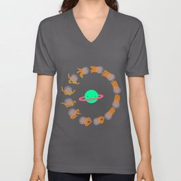 Space Octopuses! Unisex V-Neck