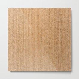 Red Oak Wood Metal Print