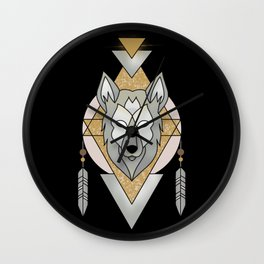 Mystic Wolf Wall Clock