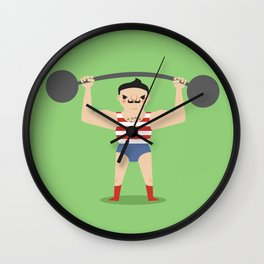 Little Strongman Wall Clock