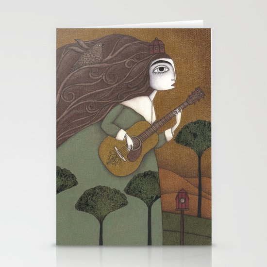 The Guitar Player Stationery Cards