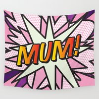 comic book Wall Tapestries featuring Comic Book MUM! by The Image Zone