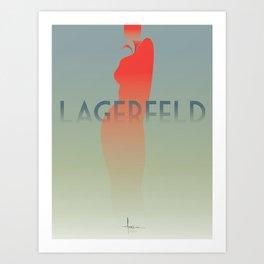 HomagetoFASHION_Karl Largerfeld Art Print