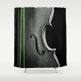 Cello Green Shower Curtain
