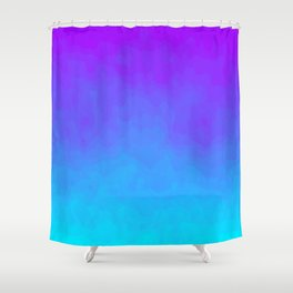 Blue and Purple Ombre - Swirly - Flipped Shower Curtain