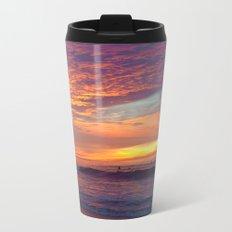 Pink Sunset Metal Travel Mug