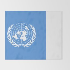 The United Nations Flag - Authentic Version Throw Blanket