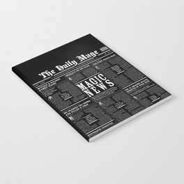 The Daily Mage Fantasy Newspaper II Notebook