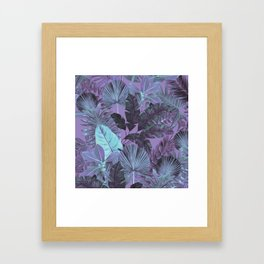 Tropical Leaf Lilac Framed Art Print