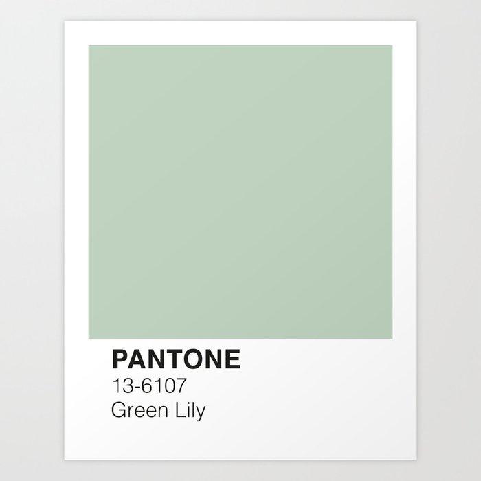 Green Lily Pantone Kunstdrucke