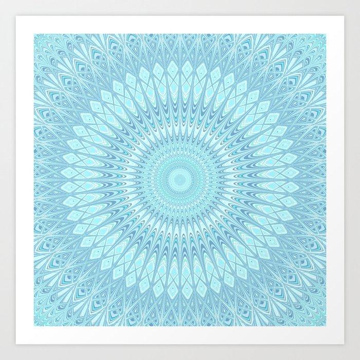 Ice Star Mandala Art Print