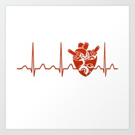 Biomedical Engineer Heartbeat Art Print