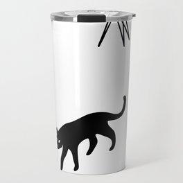cats and pots pattern Travel Mug