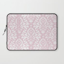 Vintage blush pink white grunge floral damask Laptop Sleeve