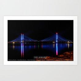 Indian River Inlet Bridge - Delaware. Art Print