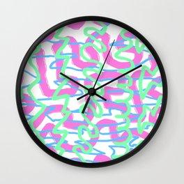 Neon Graffiti Wall Clock