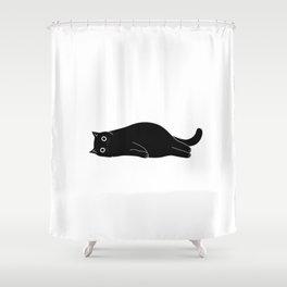 Black cat. Art Print Shower Curtain