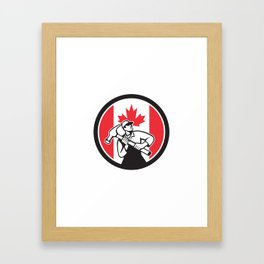 Canadian Handyman Canada Flag Icon Framed Art Print