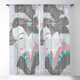 The Bamboo Cutter's Daughter Sheer Curtain