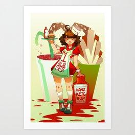 Hanz Ketchup Art Print