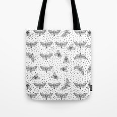 Moths pattern Tote Bag