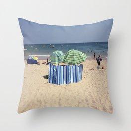 Twin Umbrella's and the Sun! Throw Pillow