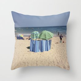 Twin Umbrella's and the Sun! Throw Pillow