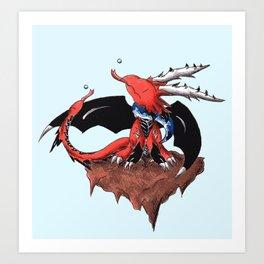 Flurry in the Underworld Art Print