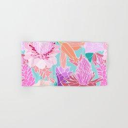 Pastel Ginger Garden in Aqua Hand & Bath Towel