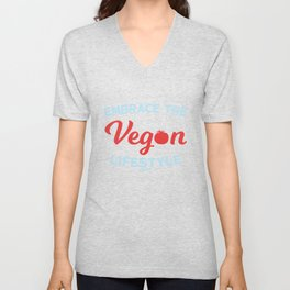 Vegan vegetarian food vegetable gift Unisex V-Neck