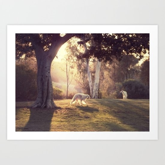 hounds of love Art Print