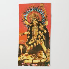 Hindu - Kali 5 Beach Towel