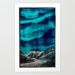 Skyfall, Melting Blue Sky Art Print